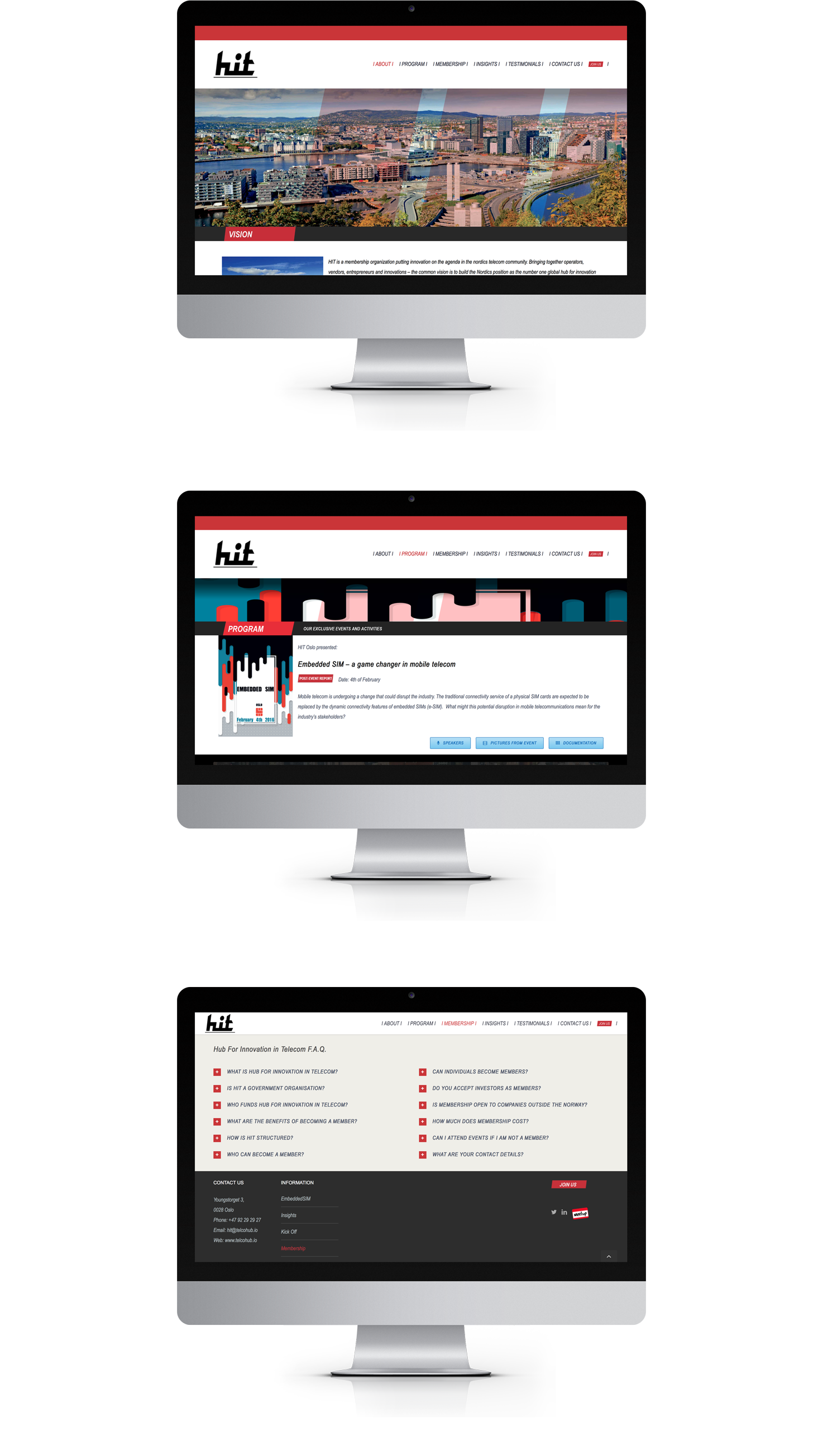 Imac mockup, webside mockup, webside design mockup, hub for innovation in telecom